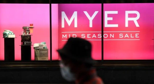 Myer rehires 2000 staff due to online sales soaring by 800 per cent